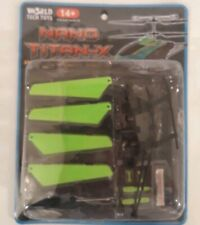 World Tech Toys Nano Titan RC Helicopter Replacement Parts Blades Skid Flybar