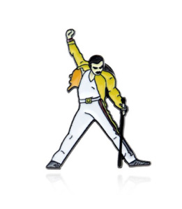 Freddie Mercury Lapel Pin Badge - UK Seller Quick Dispatch !!!