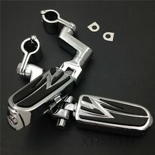"""Front Offset mount 1.5""""Highway Radical Flame Foot Pegs Clamps For Honda GoldWing"""