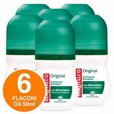 Borotalco Deodorante Roll-On Original Effetto Asciutto Senza Alcool 48h 6x 50ml