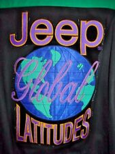Large Jeff Hamilton Satin Lined Leather and Denim Jacket  Jeep Global Lattitudes