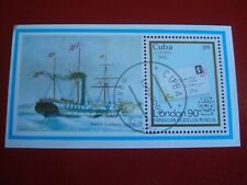 CENTRAL AMERICA - 1990 STEAMBOAT - MINISHEET - UNMOUNTED USED MINIATURE SHEET