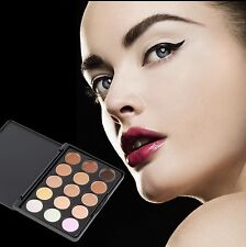 15 Colors Concealer Palette Kit With Brush Face Makeup Contour Cream Kit #1