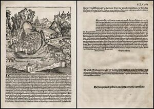 Schedel Liber Chronicarum Ungarn Hungary Inkunabel Incunable CCLXVIII 1493