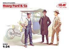 """""""Henry Ford & Co, 3 figures (Plastic model kit) 1/24 ICM 24003"""
