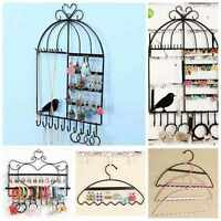 Home Metal Stand Rack Earring Necklace Bracelet Holder Jewelry Display for Women