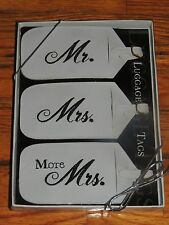 MR &  MRS LUGGAGE TAGS Newlyweds Bridal Shower Honeymoon Gift Faux Leather