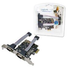 PC ERWEITERUNGSKARTE SERIELL I/O 2 PORT PCI EXPRESSCARD 2x RS232 ANSCHLÜSSE