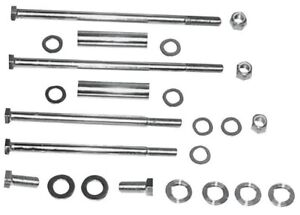 Front Upper and Lower Motor Mount Kit Colony Chrome 9798-20