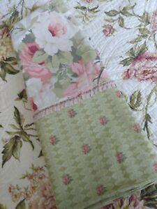 Romantic Cottage Tea Rose King Cotton shams by Chris Madden