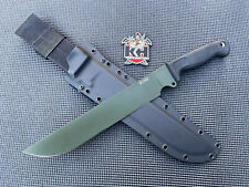 Busse Combat Basic 11 INFI Survival Knife Chopper W/ Okuden Never Used Awesome