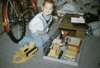 Little Boy with New Toy Car Presents 1962 Kodachrome 60s Vintage 35mm Slide A182