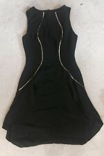 CHRISTIAN SIRIANO Runway Collection Dress Sz Small Black Gold Body Con Slimming