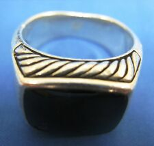 Original David Yurman Black Onyx Silver Ring (See Photos for Condition Details)