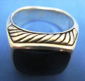 Original David Yurman Black Onyx Silver Ring (See Photos for Condition Details)