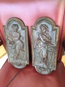 2x Original Rare Victorian Cast Iron Plaques The Carron Company Scotland