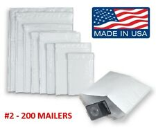 200 2 85x12 Poly Bubble Mailers Padded Envelopes Shipping Case Free Ship