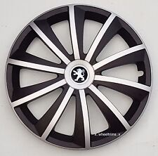 "Alloy wheels look silver/black  15"" wheel trims to fit Peugeot 308,Partner"