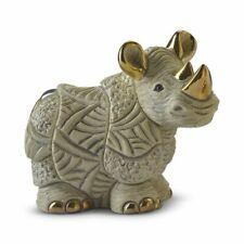 De Rosa White Rhino Figurine F220 in Branded Gift Box