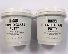 2 LB Stained Glass Putty Black, Stained Glass Supplies