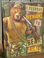 Right To Bear Arms Metal Tin Ad Sign Gun 2nd Amendment Bar Cave Garage Gift USA