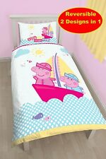 Peppa Pig Naútico panel estampado juego Edredón Polyester-cotton multicolor