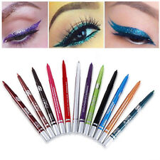 12pcs IMPERMEABILE cosmetico Eyeliner Ombretto Matita EYE LINER PENNA trucco