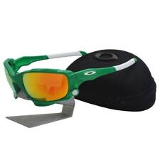 Oakley Custom JAWBONE Team Bright Green Fire Iridium Mens Sport Sunglasses .