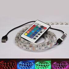 RGB MULTICOLOUR SMD5050 5V USB LED STRIP BACKLIGHT UNDER COUNTER LIGHT REMOTE