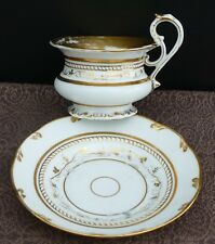 Biedermeier Porzellan Prunktasse Volutenhenkel u. Goldverzierung um 1840 !! Nr.2
