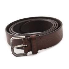 New $295 SANTONI Dark Antiqued Brown Leather Belt 42 Waist (105cm)