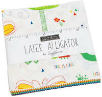 "Later Alligator Moda Charm Pack 42 100% Cotton 5"" Precut Fabric Quilt Squares"
