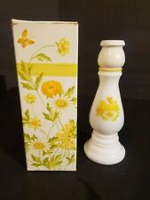 Full Bottle Avon Buttercup Candlestick Moonwind Cologne 6 oz Decanter In Box