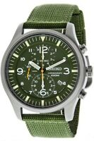 Seiko Mens Chronograph Watch Nylon Strap Military Style 100M SNDA27P1 UK Seller