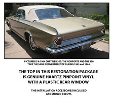 CHRYSLER NEWPORT AND 300 CONVERTIBLE TOP DO IT YOURSELF Pkg 1963-1964