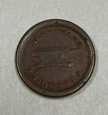 E.G. Selby & Co. Hardware and Tools Civil War Token Cwt Bryan, Ohio Xf