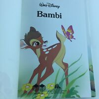 Walt Disney Bambi Hard Cover 1989 Oversize Gallery Books