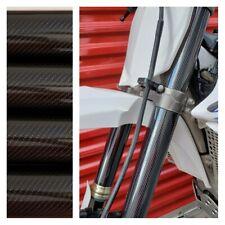 Fork Skins Guards Covers Glossy Carbon Fiber Graphics Husaberg TE 125 250 300