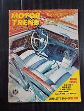 Motor Trend August 1963 Mercury Comet - Dodge Polara 500 - Chrysler Imperial
