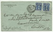 COVERS-CHILE. 22/02/1906. Multi-Franked Cover Iquique to England.