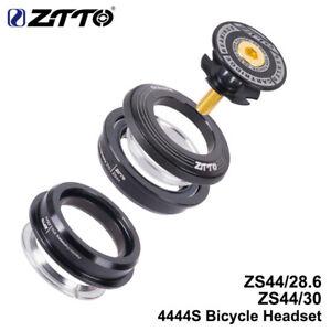 "1xZTTO Bicycle MTB Bike Headset 4444S Al6061 44mm 1-1/8"" 28.6 Straight Tube Fork"