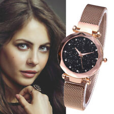 Fashion Ladies Star Sky Watch Magnet Stone Milan Mesh Belt Women's Wrist Watches