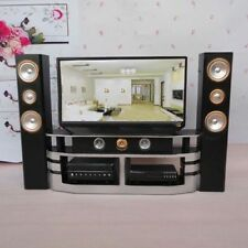 Furniture Living Room Accessories TV Theatre Combo Set Decor Fr Barbie Dollhouse