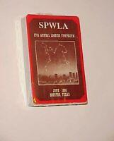 1985 SPWLA 27th Annual Logging Symposium June 1986 Houston TX Playing Cards New