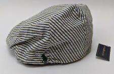Polo Ralph Lauren Striped Flat Cap Men Size L/XL Blue & White 6503284