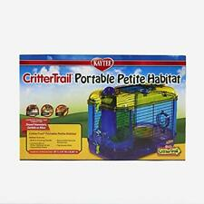 Gerbil / Hamster Cage-Critter Trail Portable Petite Habitat With Exercise wheel