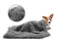 Super Soft Microfibre Pet Blanket Large Warm Fur Cozy Dog Throw Washable Grey