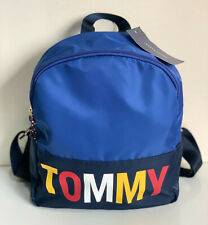 NEW! TOMMY HILFIGER BLUE NYLON TRAVEL WORK SCHOOL BACKPACK BAG PURSE $89 SALE
