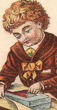 1880'S DRY GOODS STORE DENVER TRADE CARD BOY & CHRISTMAS GIFT * FREE SHIP  TC255