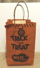 VINTAGE 1990'S WEIS MARKETS GROCERY STORE HALLOWEEN TREAT PAPER BAG